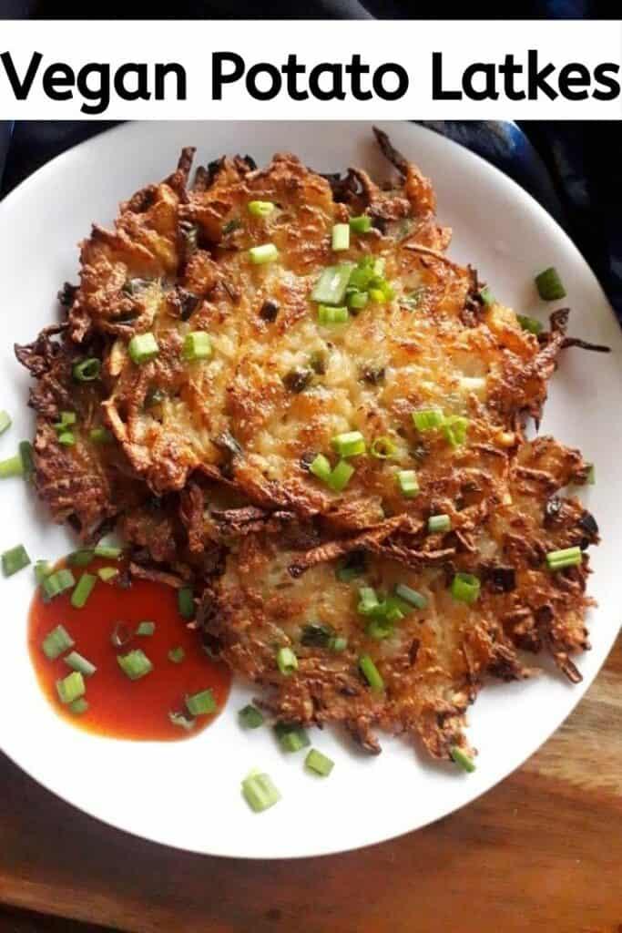 vegan potato latkes