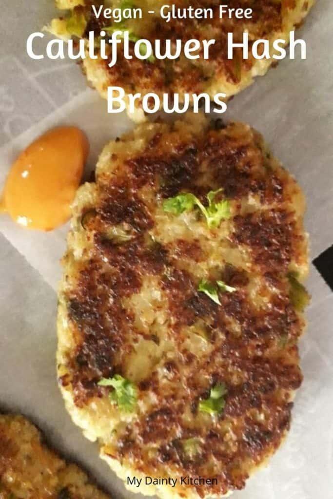 vegan cauliflower hashbrown