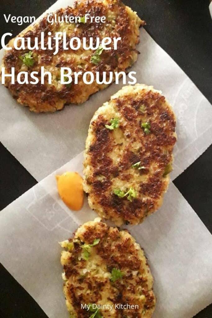 vegan cauliflower hash browns