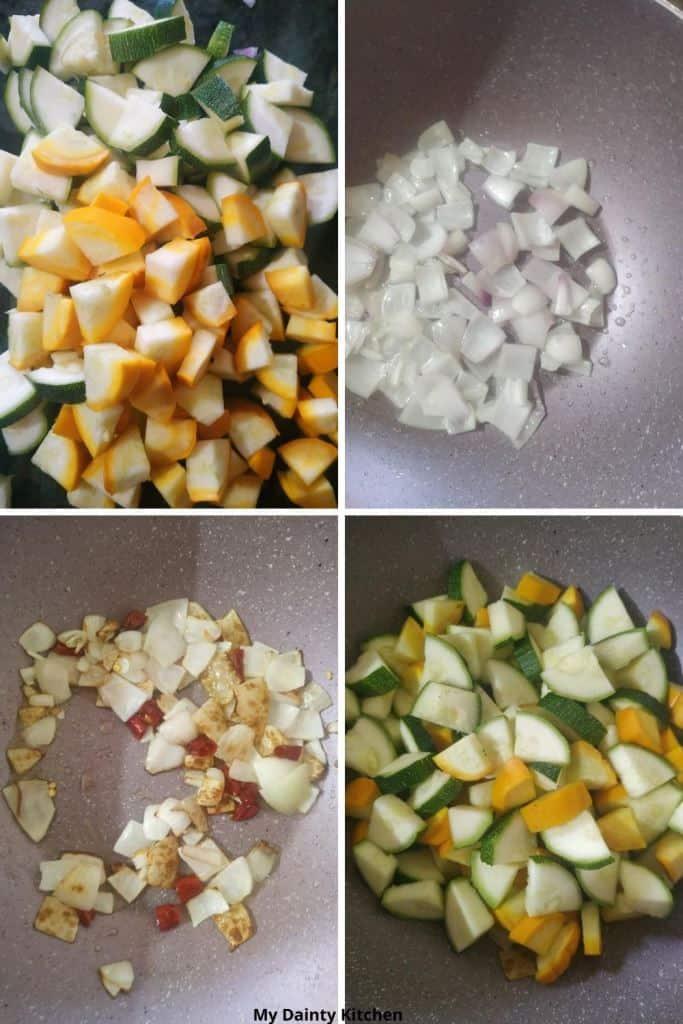 method of zucchini stir fry