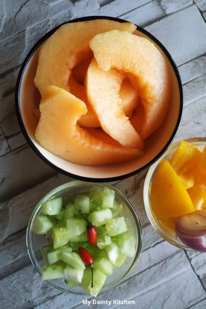 muskmelon gazpacho soup