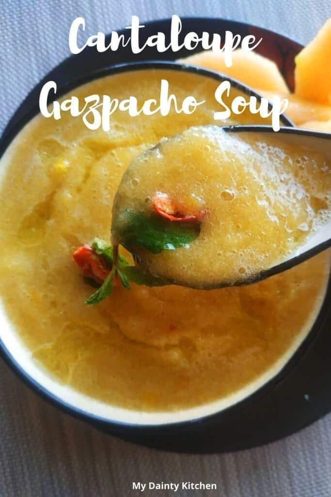 cantaloupe gazpacho soup