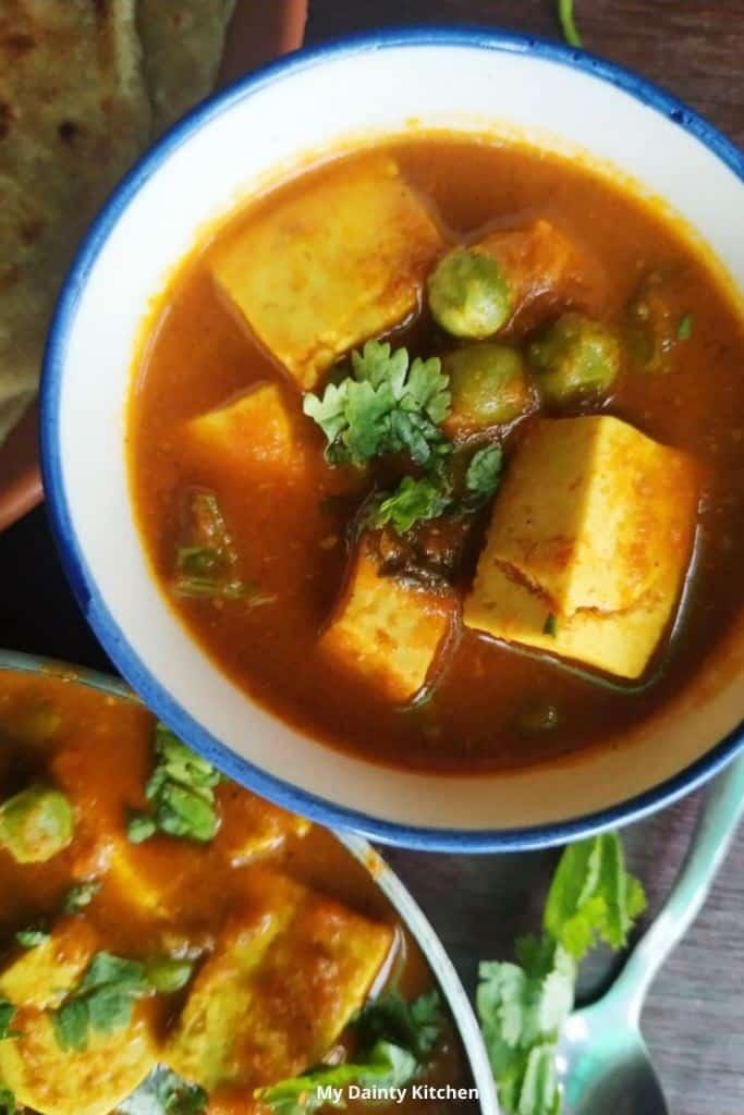 matar paneer curry