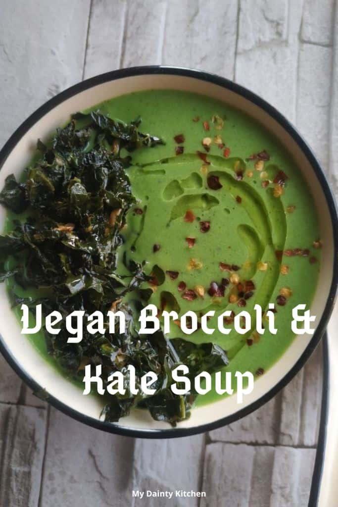 vegan broccoli and kale soup