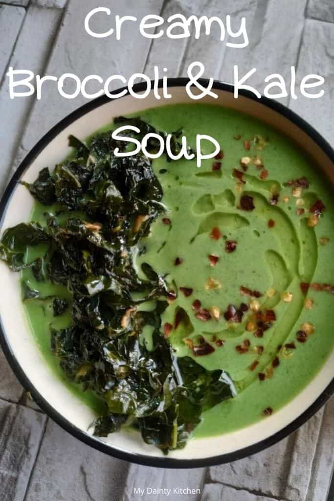 vegan broccoli and kale soup