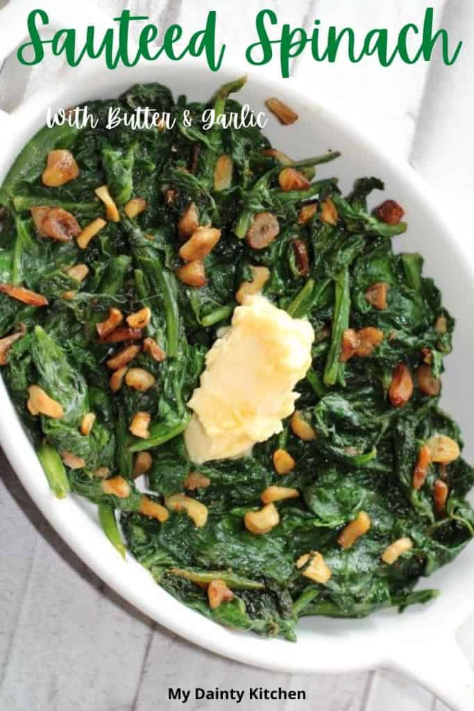 Keto buttery garlic spinach