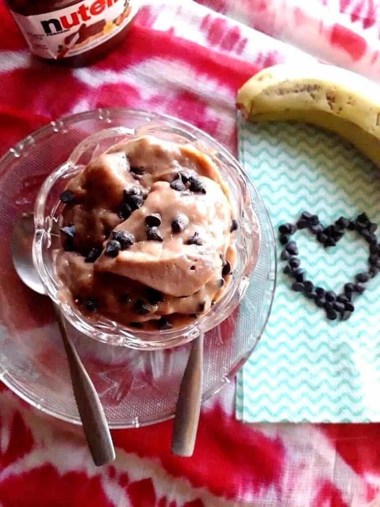 banana nutella ice cream