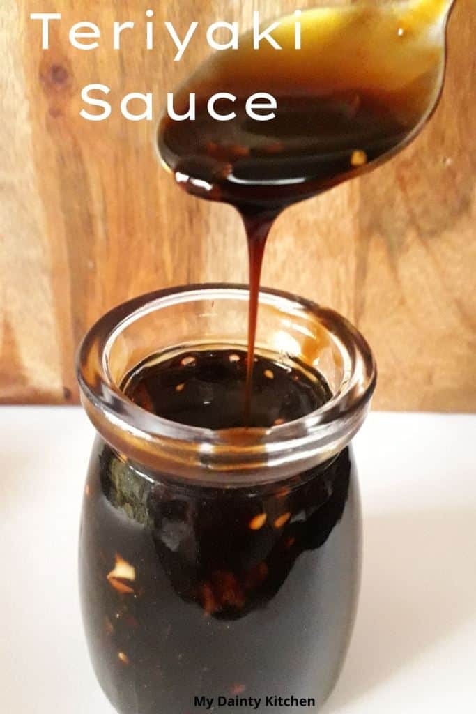 dripping sauce into jar