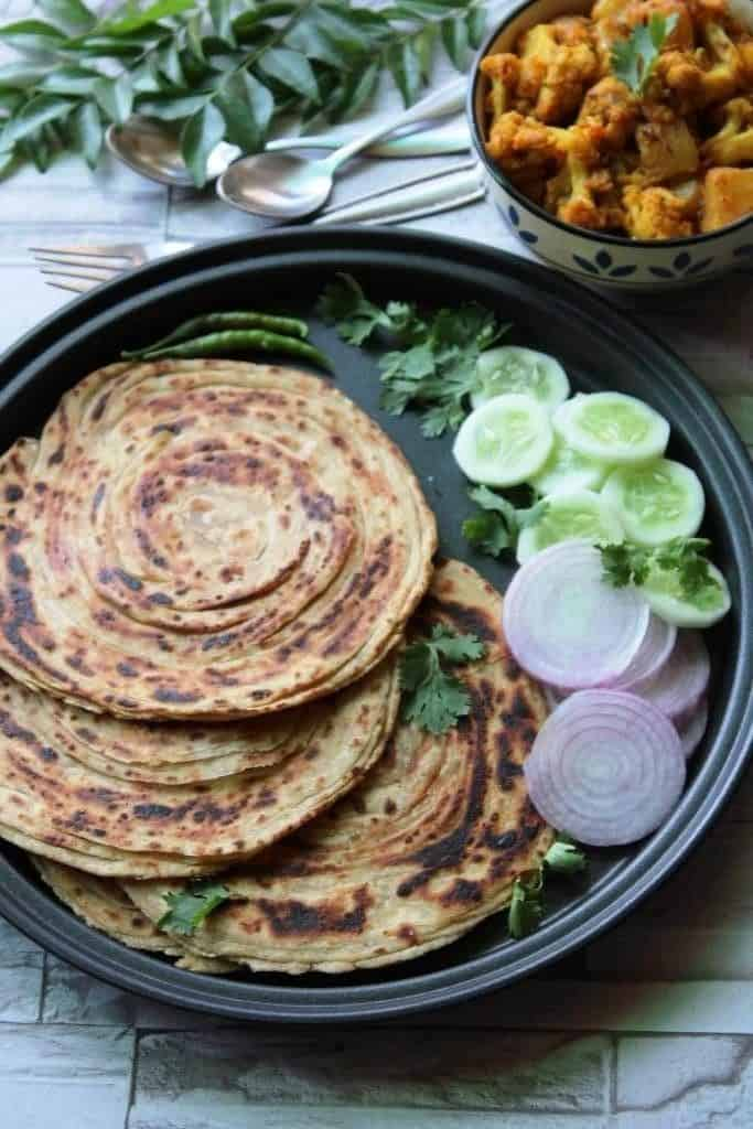 indian layered bread