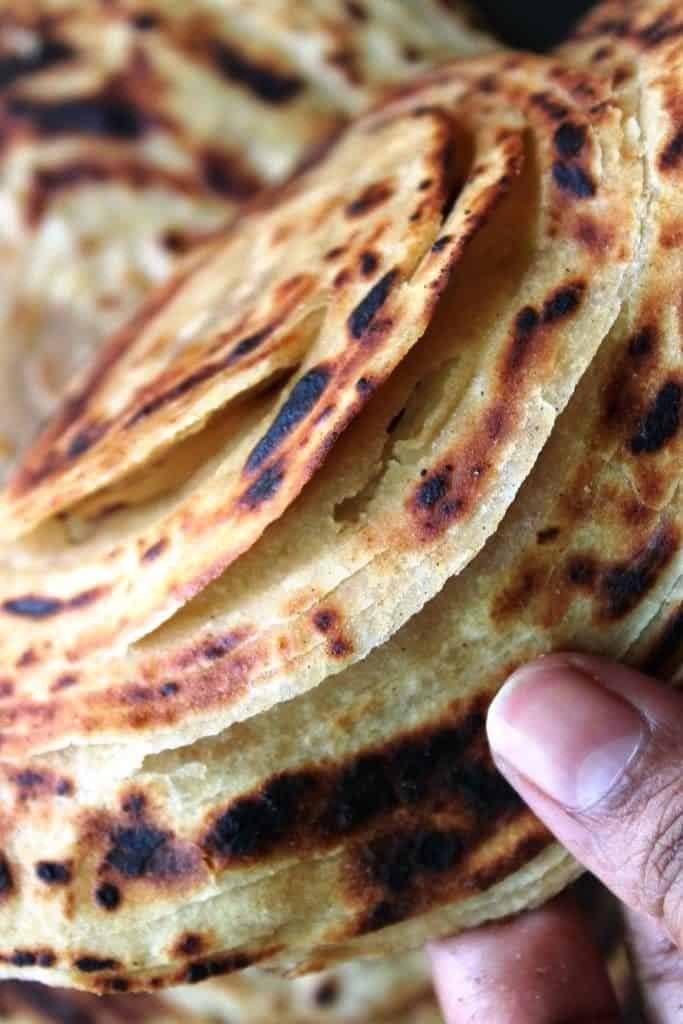 layers of paratha