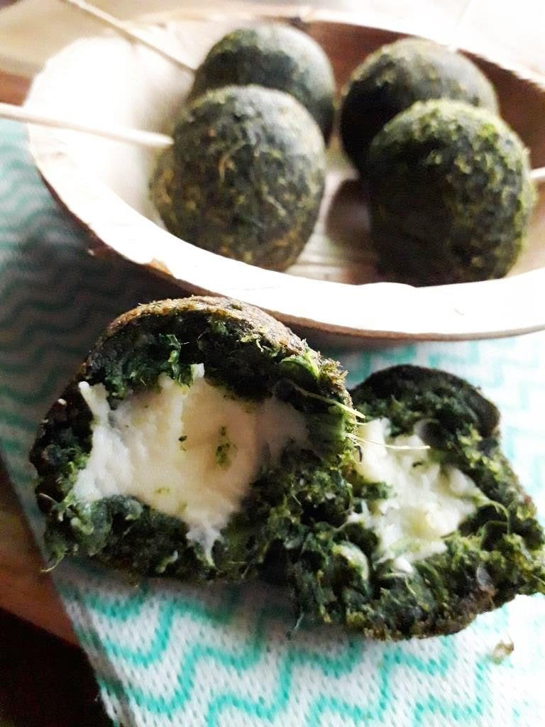 Spinach Cheese Balls as party appetizers