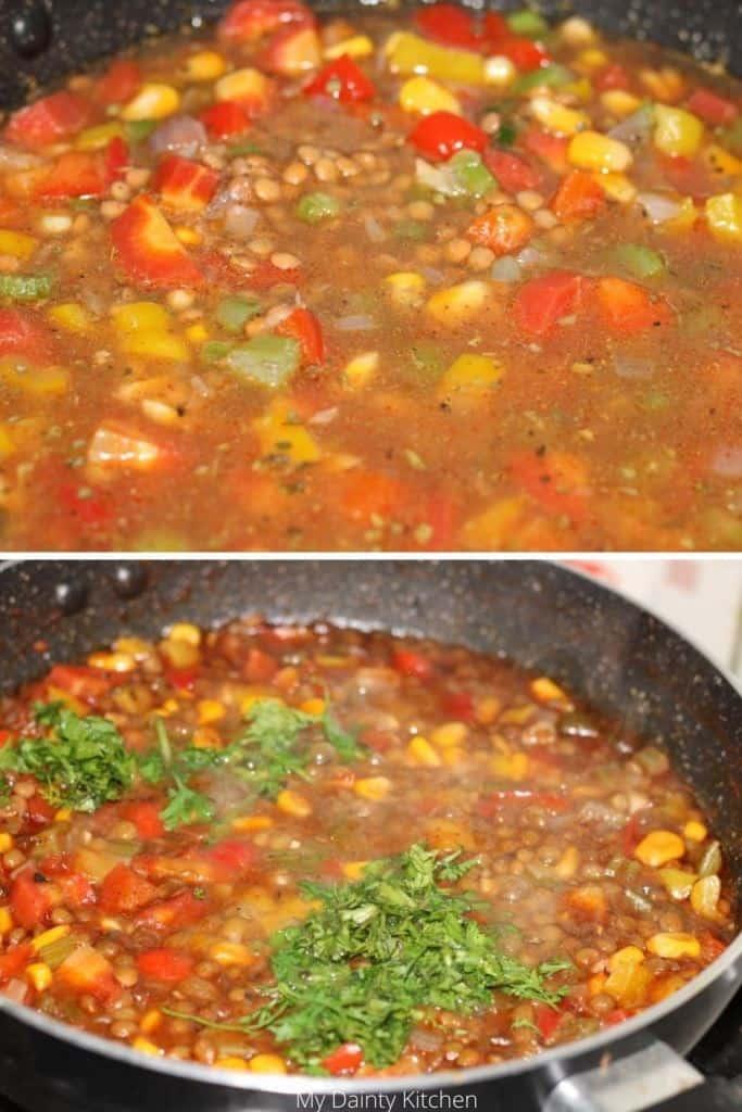 mexican lentil soup - lazy vegan recipes