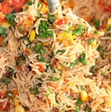 lazy vegan recipes - Mexican rice