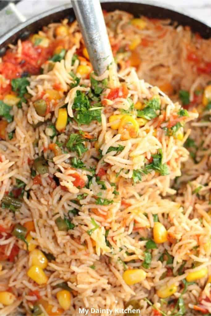 lazy vegan recipes - Mexican rice