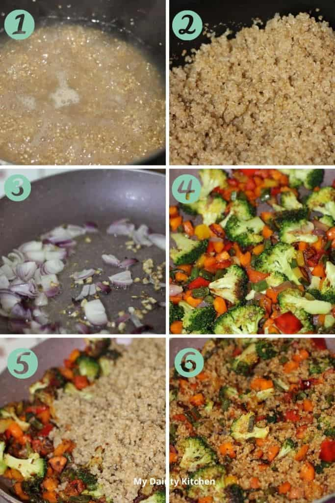 how to make quinoa fried rice - lazy vegan recipes