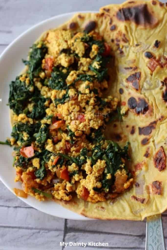 vegan omelet with stuffing - lazy vegan recipes
