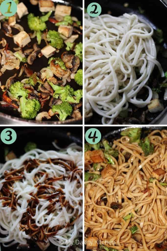 stir-fry udon with veggies