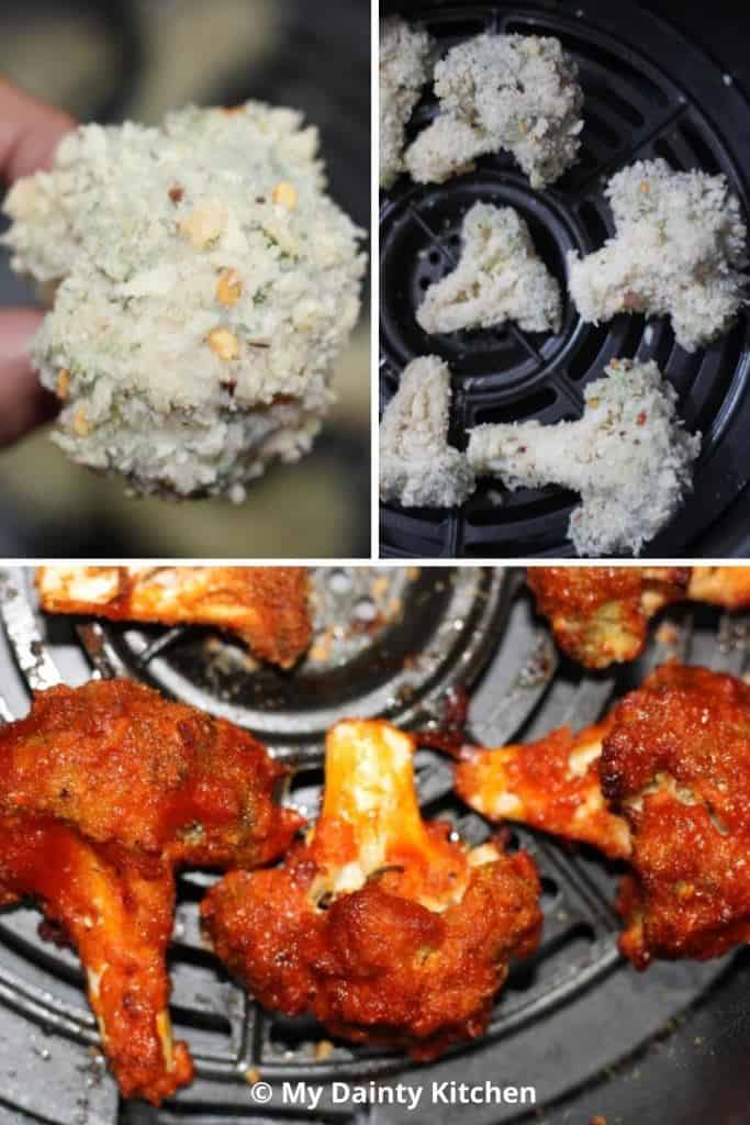 how to make buffalo broccoli in air fryer
