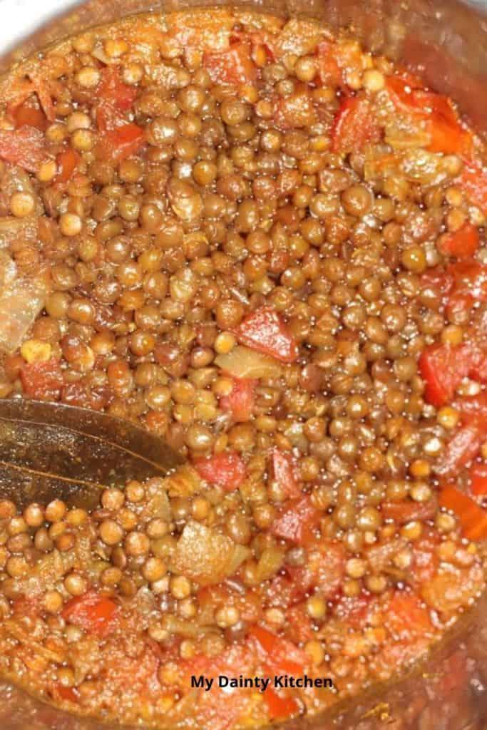 vegan red lentil curry